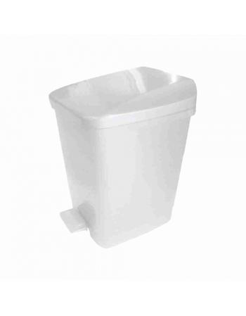 LIXEIRA PLASTICA COM PEDAL 9,0L QUADRADA BRANCA