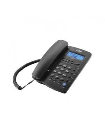 TELEFONE COM FIO PRETO COM IDENTIFICADOR