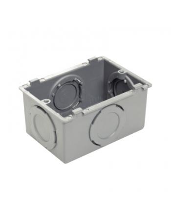 PLASTIBOX APARENTE CAIXA 1/2, 3/4, 1 CINZA