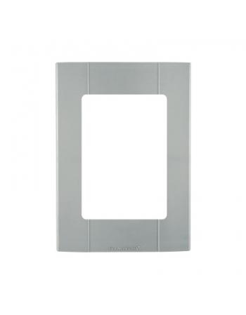 PLASTIBOX APARENTE PLACA 3 MODULOS CINZA 57252/022