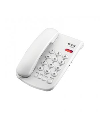 TELEFONE COM FIO BRANCO SEM IDENTIFICADOR MESA